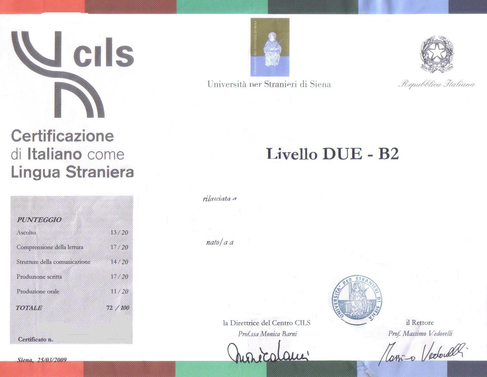 Prossimi Esami Cils Certificazione Di Italiano Come Lingua Straniera Il 10 Giugno 2010 Iscrizioni Entro Il 29 Aprile Stran Ier Omavero
